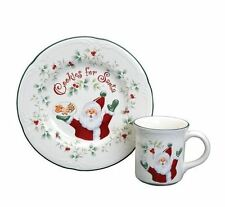 PFALTZGRAFF Winterberry Cookies & Milk for Santa Christmas Plate & Mug Set -NIB