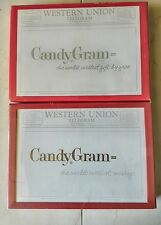 LOT OF 2 VINTAGE WESTERN UNION CANDYGRAMS
