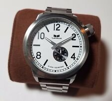Vestal Watch CTN3M08 Canteen Metal White Face Two Bands New Battery Works