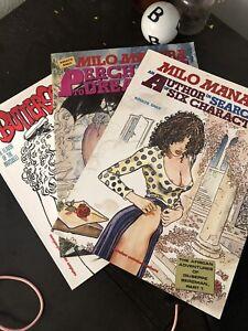 Milo Manara Lot of 3 Erotic Graphic Novel Comics