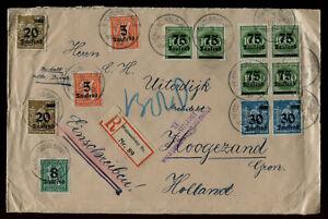 INFLA: MISCHFRANKATUR auf RECO ab WEISSENBURG 1923 mit ZENSUR nach HOLLAND