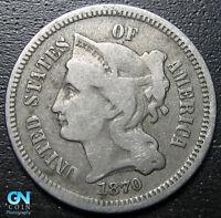 1870 3 Cent Nickel Piece  --  MAKE US AN OFFER!  #R8322