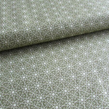 Green geometric print 100% cotton print fabric for sewing & crafts -  per 1/2m
