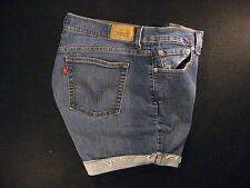 LEVIS 515 CUTOFF JEANS SHORTS Cut Off W 34 Denim Red Tab Daisy Duke HIGH WAISTED