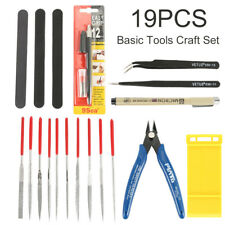 19Pc Modeler Basic Tools Craft Set Hobby Building Tool Kit For Gundam Car Models