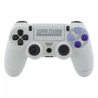 Custom SNES Style Souft Touch Top Back Housing Shell for PS4 Slim Pro Controller