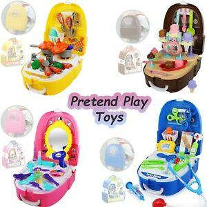 Pretend Play Role Play Girls Boys Gift Makeup, Kitchen Ice Cream, Doctor Toy Set