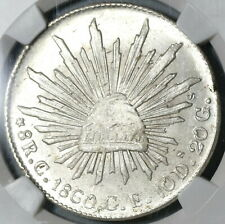 1860-C NGC MS 64 Mexico 8 Reales Culiacan Mint State Silver Coin (20030801C)