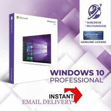 WINDOWS 10 PRO 100% GENUINE KEY PROFESSIONAL 32✓ 64 BIT ✓ INSTANT DELIVERY ✓