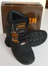 Safety Boots, Mens High Work Boots, Beaver Safety Boots, Shoes, Black S3 UK 10