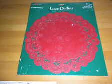 "LOT 2 x 18 = 36 FANCY FRENCH ROYAL RED LACE 6"" ROUND PAPER DOILIES DOILY FLOWERS"