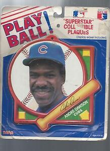 PLAYBALL SUPERSTAR COLLECTIBLE MLB PLAQUE ANDRE DAWSON CHICAGO CUBS VF