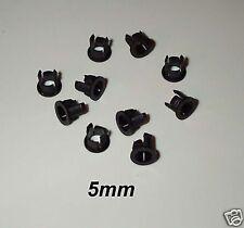 10 LED HOLDER / RETAINERS - PANEL MOUNTING 5mm LOCKS USA