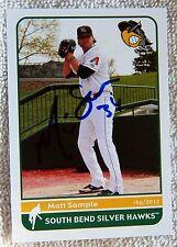 Arizona Diamondbacks Matt Sample Auto 2012 South Bend Silver Hawks Card
