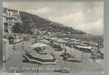 Old postcard of Alassio the Beach nice and interesting but there are bends