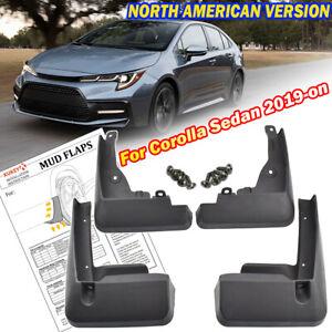 4pcs For Toyota Corolla E210 Sedan 2020 Front Rear Mud Flaps Splash Guards