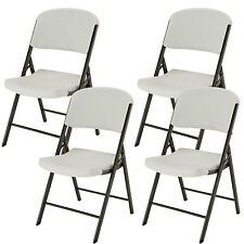 Lifetime Light Commercial Contemporary Plastic Folding Chair, Almond (4 Pack)