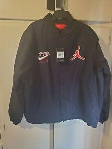 Nike Air Jordan Legacy Canvas Jacket Black Red CZ1165-010 Men's Size xxl