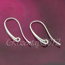 Argent sterling 925 earwires fish hook findings A021