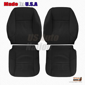 For 2010 2011 2012 2013 Lexus GX460 Front DRIVER-PASSENGER Leather Covers Black