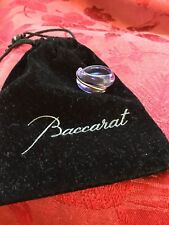 FLAWLESS Exquisite BACCARAT France Crystal 18KT GOLD COXIAGE Purple RING Size 7