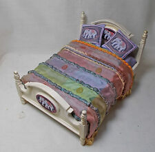 "Dolls house Miniature Asian inspired double bed 12th (1"") Scale"