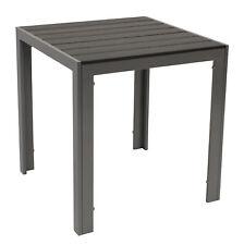 Gartentisch Bistrotisch Gartenmöbel Tisch Aluminium Polywood SORANO 70x70cm grau