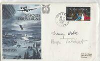 France 1981 RAF Cover Maquis D'Auvergne Signed Nancy Wake Henri Tardivat JK28