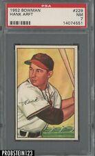 1952 Bowman SETBREAK #29 Hank Arft St. Louis Browns PSA 7 NM