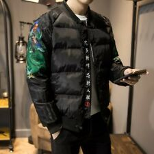 Men's Chinese style Quilted Jacket Cotton Padded Coat Short Outerwear Leisure