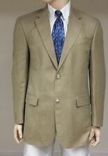 OSCAR DE LA RENTA 42L Tan Silk/Wool Blend Sportcoat