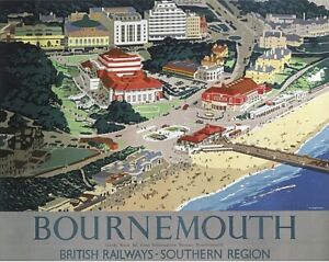 Bournemouth (old railway ad Computer Mouse Mat 235mm x 195mm (se)
