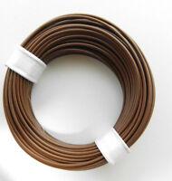 (0,189€/m) 10 m Litze/Kabel BRAUN z.B. für Märklin H0 Modellbahn oder N, TT etc.