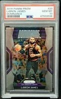 2018 Prizm Insert DOMINANCE Lakers LEBRON JAMES Card PSA 10 GEM MINT Pop 160