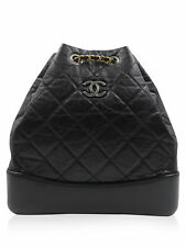 Chanel Black Quilted Lambskin Cruise 2017 Mini Backpack Handbag