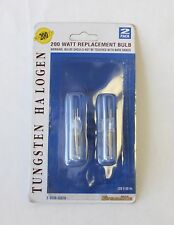 200W Tungsten Halogen Replacement Bulb  120V 60 Hz  2-Pack  NEW!!