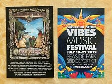 Gathering of the Vibes Music Festival 2 Promotional Card 2009 2012 Bob Weir CSN