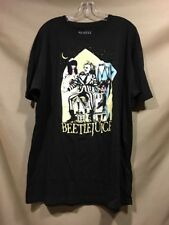 Men's BEETLEJUICE Tee Shirt XL Black Classic Poster Geena Davis Micheal Keaton
