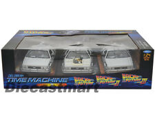 WELLY 1:24 DELOREAN TIME MACHINE BACK TO THE FUTURE TRILOGY PACK DIECAST 22400