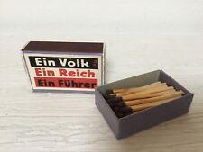 ww2 german hitler box of matches fiammiferi annessione Austria no helmet elmetto