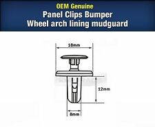 OEM Plastic Panel Clips Bumper Wheel Arch Lining Mudguard 20P For All Vehicle