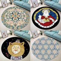 Non Slip Round Area Rug Soft Carpet Bedroom Living Room Floor Mat Washable 80cm