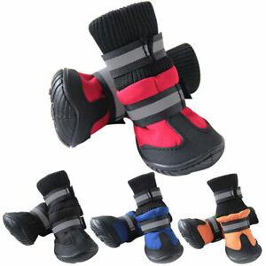 4PCS/set Pet Dog Puppy Warm Boots Outdoor Waterproof Anti-Slip Shoes