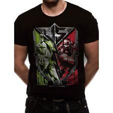 Official Men's Unisex Marvel Thor Ragnarok Hulk VS Thor Poster Design T-Shirt