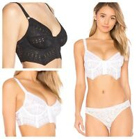 NEW Free People Intimately IFP White Out Bustier Underwire Longline Bra