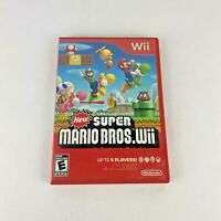 New Super Mario Bros Wii 2009 Video Game Complete Tested