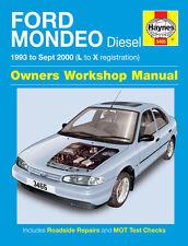 3465 Haynes Ford Mondeo Diesel (1993 - Sept 2000) L to X Workshop Manual