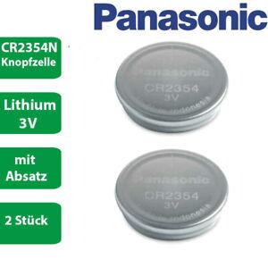 2 x Panasonic CR2354N CR 2354 N mit Absatz Lithium 3 V Batterie lose bulk 560mAh