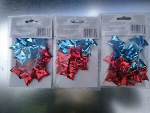Set of 3 Patriotic Wilton Fin Pix Cup Cake Decoration 6 red and 6 blue each