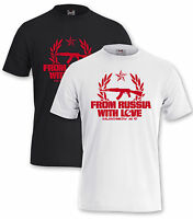 "Shirt ""FROM RUSSIA WITH LOVE""  Russland Kreml Kalaschnikow Putin Moskau Россия"